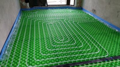 Изграждане подово отопление с топла вода