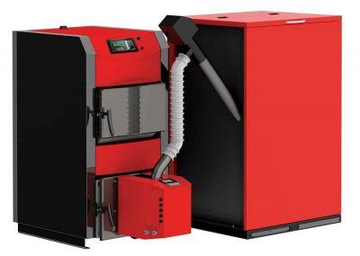 ПЕЛЕТЕН КОМПЛЕКТ BURNIT WB 50kW (котел, горелка  EKO 55 kW, присъединителен комплект, бункер, вратичка +500л буфер )