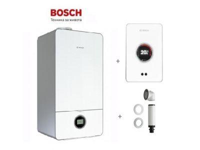 Bosch, пакет газов котел Condens 7000iW 20/24 C23 + комин C13x (1 m) + датчик