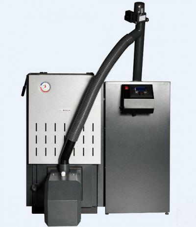 КОТЕЛ BOSCH Solid 2000B SFU 32kW, пелетна горелка Pellet Brenn 2000, комплект за преобразуване