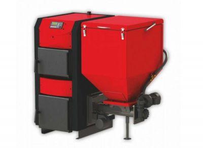 ПЕЛЕТЕН КОМПЛЕКТ BURNIT WB 25kW (котел, горелка EKO 35 kW, присъединителен комплект, бункер, вратичка +500л буфер )